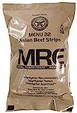 MRE (Meals Ready-to-Eat) – Racionamiento original de los combatientes de guerra de EE.UU.1 paquete de provisiones para militares de diferentes sabores de MRE.