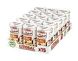 LITORAL Hoy Legumbres Alubias con su sofrito - Plato Preparado Sin Gluten - Pack de 15x435g - Total: 6.52kg