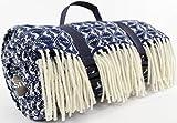 Tamaño Extra grande resistente al agua 100% Picnic manta de lana/alfombra de viaje/Camping/playa alfombrilla. Fabricados en el Reino Unido para Bushga