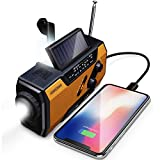 FosPower Radio portatil 2000mAh Solar Luces de Emergencia bateria Externa para movil Radio pequeña y batería Recargable para Correr y Viajar, para Smartphones, Tablets y MP3