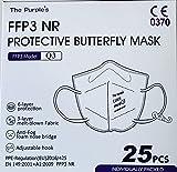 Mascarilla FFP3 NR Homologada - The Purple´s - Pack 25 ud. CE-0370, Color Blanco