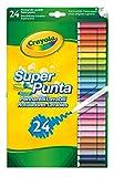 CRAYOLA- Disney Rotuladores Súper Punta Lavables 24 ud, Multicolor, Pack of 24 (B01BF6F20K)