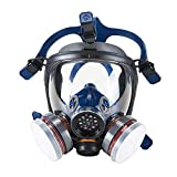 OHMOTOR Mascara Pintura, Respirador Facial de Vapor Orgánico con Certificación CE, Protección Facial Máscara de Seguridad para Pintura, Polvo