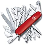 Victorinox SwissChamp Navaja Swiss Champ, ROJA 16795, Rojo, Acero Inoxidable, 91mm
