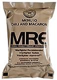 Kit de Supervivencia, ración de Alimentos de Emergencia, Militar, ejército EE.UU, MRE, NATO, 1-24 - 10# Chili and Macaroni