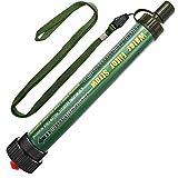 TEUEN DeFe Filtro de Agua 2000L Personal Sistema de Filtración de Agua 0.01 Micron Mini Purificador de Agua Portátil para Excursionismo Campamento Acampada Supervivencia y Emergencias (Verde 1Pack)