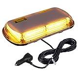 AUTOUTLET Luz Estroboscópica Luz de Advertencia 144 LED, 12V/24V Luz Intermitente Luz de Emergencia con 4 Bases Magnéticas, 5m Cable de Alimentación, 7 Modos Flash, Impermeable IP67, Luz de Emergencia