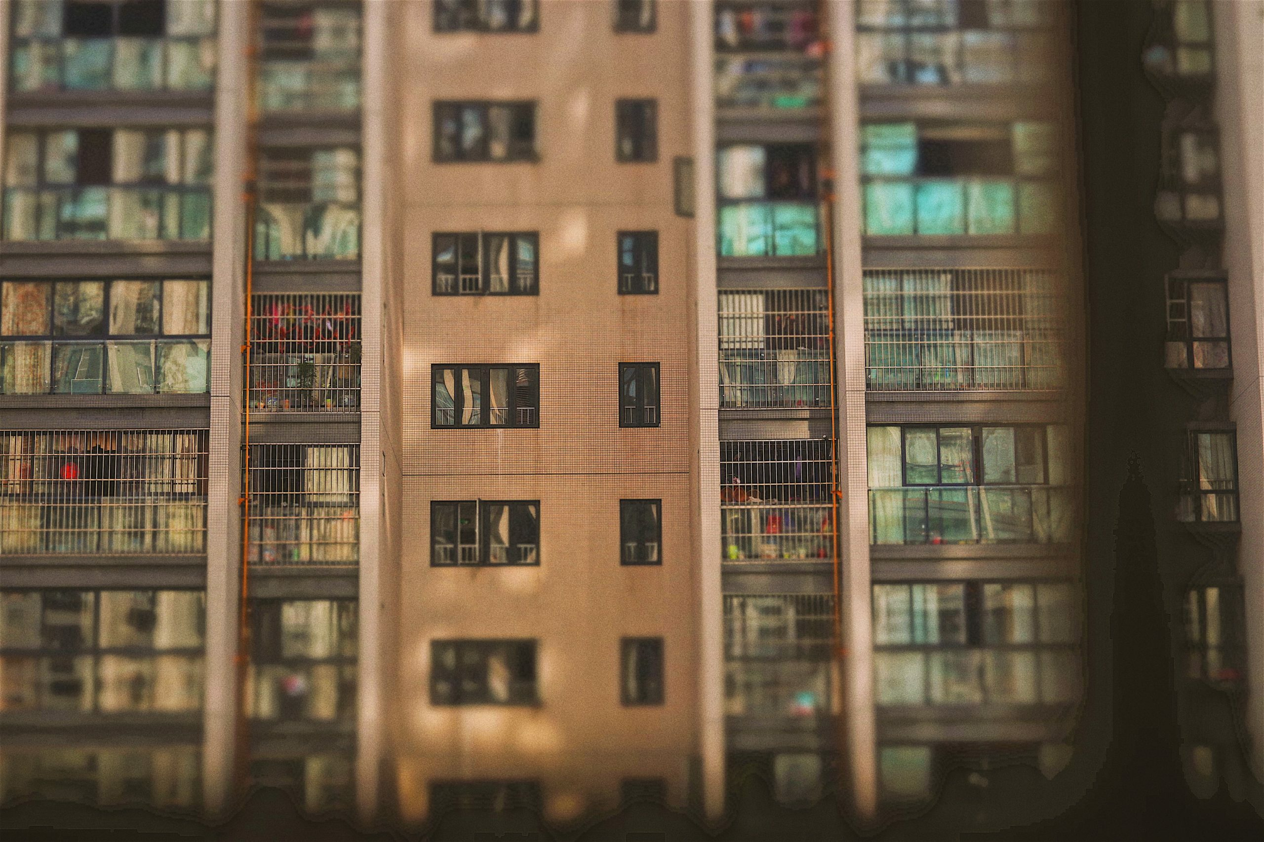 brown apartment building